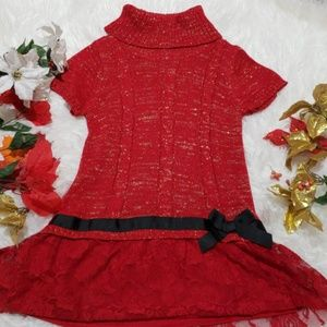 Girls 10/12 red top